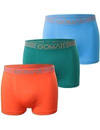 6er Pack Gomati Herren Seamless Pants - Boxershorts ohne störende Nähte in geschmeidig weichem Microfaser-Elasthan