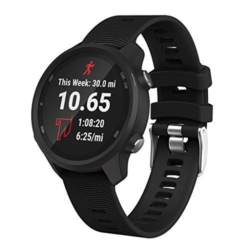 MuSheng für Garmin Forerunner 245 / 245M Armband, Original Ersatzarmband, Sport Fitness Watch Band weiches Silikon Ersatz Uhrenarmband für Garmin Forerunner 245 / 245M (Garmin-edge-bands)