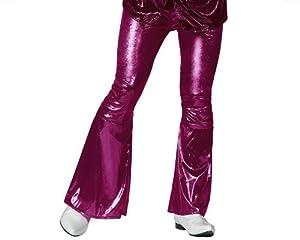 Atosa- Disfraz Pantalon Disco Fucsia Adulto Acampanado, Color, L (14480)