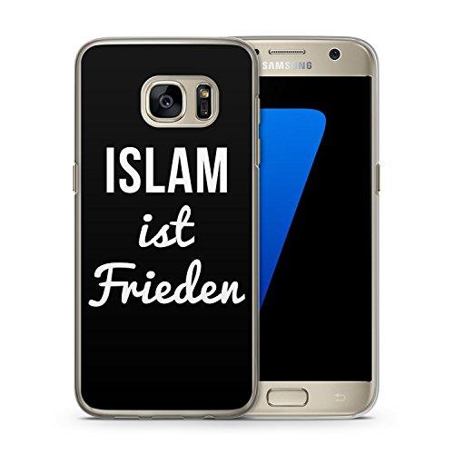 Islam ist Frieden - Handy Hülle für Samsung Galaxy S7 edge - Cover Hard Case Schutz Schale Muslim Spruch Sprüche Frieden