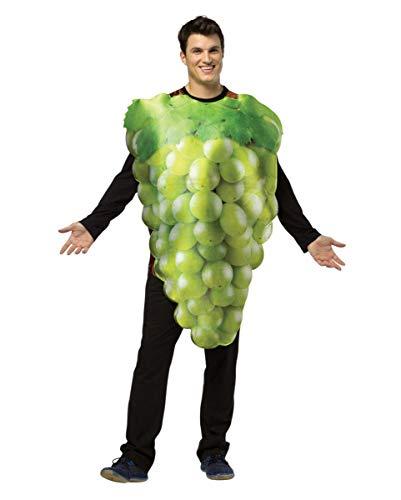 Weintraube Kostüm - Horror-Shop Leckeres grünes Weintrauben-Rebe Kostüm für Gruppen am Faschingszug