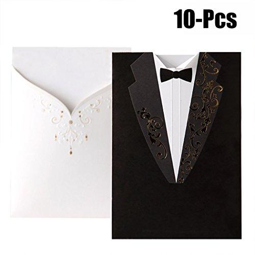 Fascigirl 10 StüCk Hochzeit Einladungskarte Hochzeits Papier Karte Kreative Anzug Party Einladung