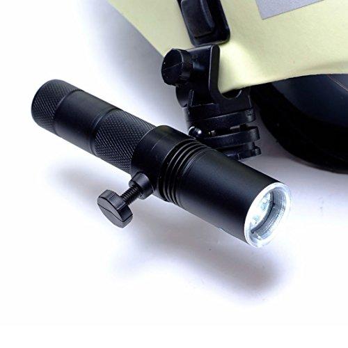 Preisvergleich Produktbild Profi-LED Feuerwehr Helmlampe - Lithium-Ionen Akku - super hell inkl. Halter