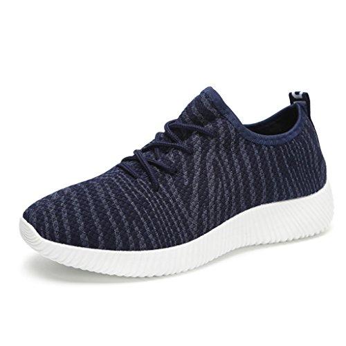 Hawkwell Damen Sportschuhe Laufschuhe Schnürschuhe Fitness Sneakers Marineblau 41EU (Stadt Tragen Freie)