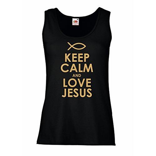 Femme Débardeur Sans manche Christian t-shirts cadeau chrétien articles religieux Noir Or