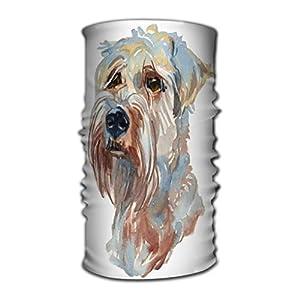 Xunulyn Stirnband Head Wraps Head Scarf for Women Men Soft Coated Wheaten Terrier Watercolor Hand Painted d
