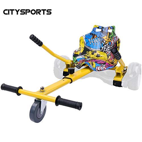 CITYSPORTS Hoverkart con Sedile, Go-Kart Regolabile per Hoverboard da 6.5\'\', 8\'\', 8.5\'\', 10\'\'