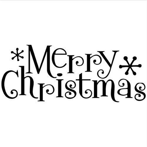 22 *   56 Cm Frohe Weihnachten Wand Sagen Vinyl Schriftzug Wohnkultur Aufkleber Aufkleber Festival Wandaufkleber Für Kinderzimmer Vinilos Parede ()