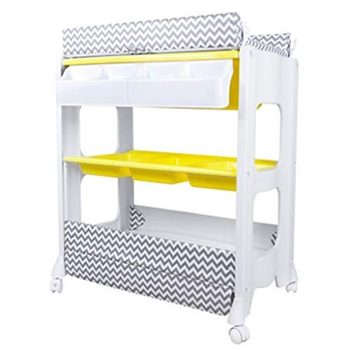 Klappbarer Wickeltisch für kleine Räume, Tragbare Kindergarten Säuglingswindel Massagestation Kommode für Haushaltsreisen, mehrfache farbe, 0-2 Jahre alt