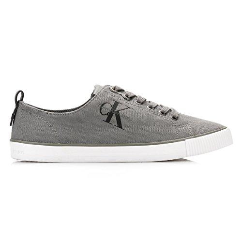 Calvin Klein Jeans Damen Grau Dora Leinwand / Leinen Sneakers Grau