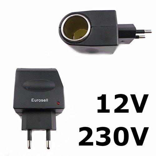 Adaptador de 230 V/12 V coche 230 V casa de corriente 12 V coche connettore HQ convertidor cargador Universal europeo para encendedor de coche