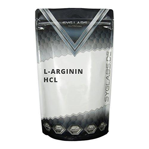 Syglabs Nutrition L-Arginin HCL Pulver, 1er Pack (1 x 1 kg) - Aakg Pulver
