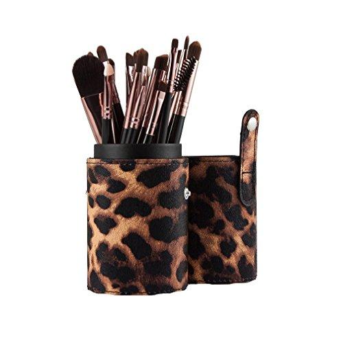 Saingace 20PCS Pinceaux de Maquillage Outils de Maquillage Fard à Paupières Brosse Fard à Joues Anticernes de Pinceau/Café