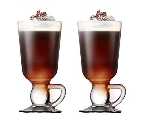 Pasabahce 44109–Café irlandés, ponche, Vino Caliente, Chocolate Caliente Taza con asa ~ 280ML, 2Unidades