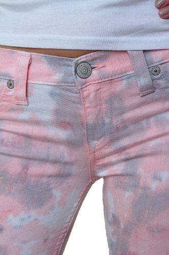 True Religion Damen Jeans Skinny Skinny Jeans HALLE SUPER SKINNY Wash WP TIE DYE SHELL Rosa