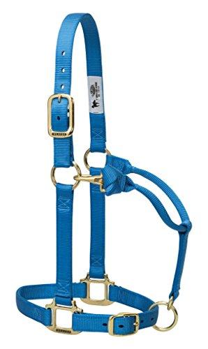 Weaver Leder Original Wildnis Verstellbare Kinn und Hals Kinderspiel Nylon Pferd Halfter, Französisch - Wildnis Blau