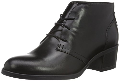Clarks Calne Olivia, Stivaletti Donna, Nero (Black Leather), 38 EU