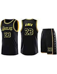 ZWXYA NBA Lakers Lebron James 23 Basketball Traje de Ropa,James,3XL(175