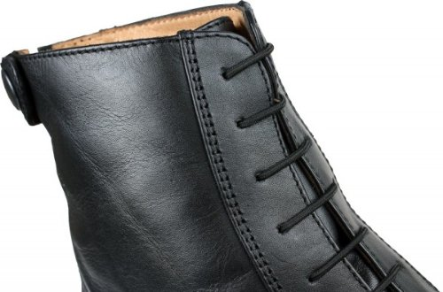 Leder Damen Jodhpur Stiefelette Stiefel m Schnürung schwarz oder braun Schwarz