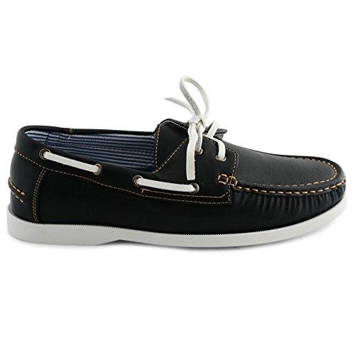 Shoes Click - Náuticos de Piel sintética para Hombre, Color Negro, Talla 41.5