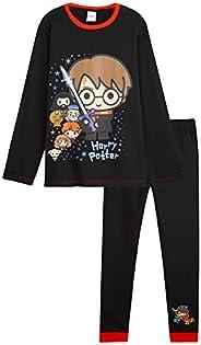 HARRY POTTER Pijama Niño y Niña, Conjunto de 2 Piezas Algodon, Pijamas Niños de Algodon 100%, Regalos para Niñ