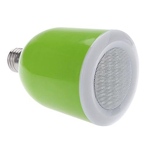 Tsing Ampoule LED Bluetooth avec Haut-parleur Intégré Nouvelle Melody Stéréo Pour IPhone 4 4S 5 5S 6 6 Plus iPad Mini Air Samsung Galaxy (Vert)