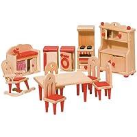 Goki 51951 - Mobiliario de cocina para casa de muñecas