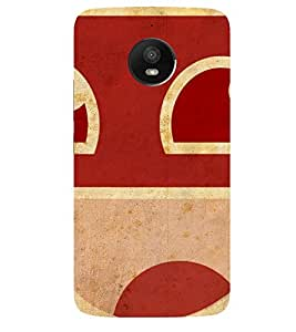Smiley Printed Back Cover for Moto E4 Plus