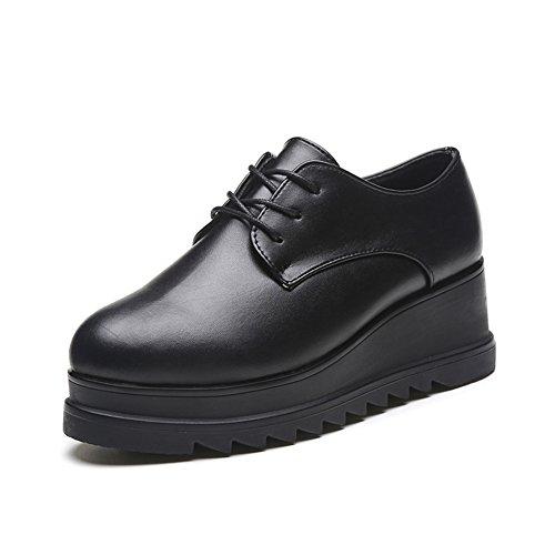 the shoes printemps à sangle pointu/Vent vintage chaussures d'Angleterre/Chaussures plates A