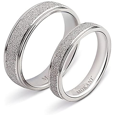Littlefinger Fashion Jewellery Silver Titanium Steel Rings Frosted Surface Couple Rings Wedding Valentine'S Day Gift - Fedi In Platino Mens