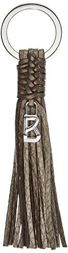 Bogner Damen Keyfob Schlüsselanhänger, Braun (Bronzo Metallic), 1x1x14,5 cm (Hobo Drei Zip)