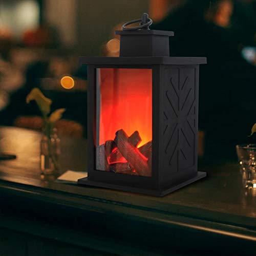 ZHAOZX Chimenea simulada candelabro lámpara Llama