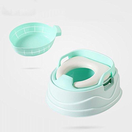 HT Drei-In-Eins Kinder 'S Toilette Männer und Frauen Baby Wc Kinder Töpfchen Plus Große Geschlitzte Urin Topf,Gras-Grün