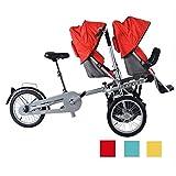 ZhaoZC Passeggino per Bici Doppio Bambino 2 in 1 Passeggino gemellare per Bici Pieghevole Triciclo Pieghevole Due posti Usato Unisex Adulto,Natural