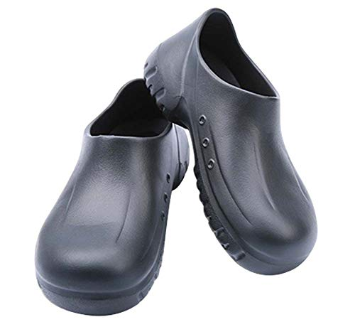 chuhe Sicherheitsschuhe Hotel Arbeitsschuhe Rutschfeste Wasserdichte Schuhe SS0399 (43 EU, Schwarz) ()