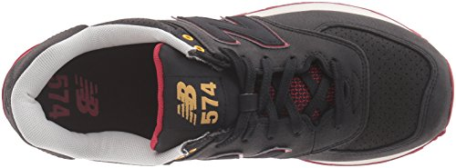 New Balance Mens ML574 Gradient Pack Fashion Sneaker Black/Red