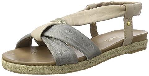 Jana Damen 28102 Offene Sandalen mit Keilabsatz, Beige (Sand 355), 38 EU