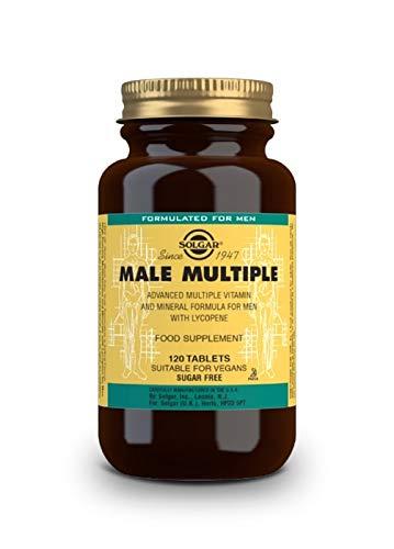 Solgar Male Múltiple, 120 Comprimidos - Multinutriente para el hombre. Con vitaminas,...