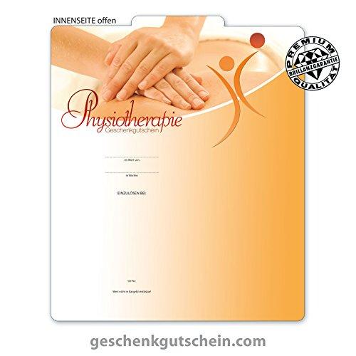 """10 Stk. Premium Geschenkgutscheine Gutscheine zum Falten""""Multicolor"""" für die Physiotherapie MA242, LIEFERZEIT 2 bis 4 Werktage!"""