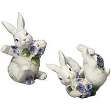 Lúdico para conejos de conejito y hortensias juego de salero y pimentero Andrea por Sadek