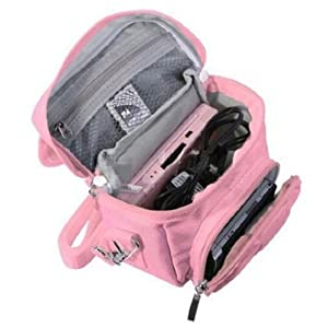 FoneM8 – PINK TRAVEL BAG CARRY CASE FOR NINTENDO 3DS, 3DS XL, DS LITE, DSi, DSi XL