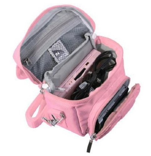 FoneM8 - PINK TRAVEL BAG CARRY CASE FOR NINTENDO 3DS, 3DS XL, DS LITE, DSi, DSi XL