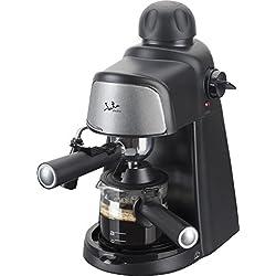 Jata Cafetera Hidropresion Ca704, 800 W, 0.35 litros, 0 Decibeles, De plástico, Negro Y Plateado