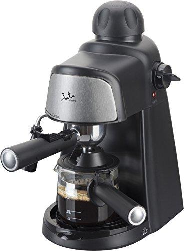 Jata Cafetera Hidropresion Ca704, 800 W, 0.35 litros, 0 Decibeles, Plástico, Negro Y Plateado