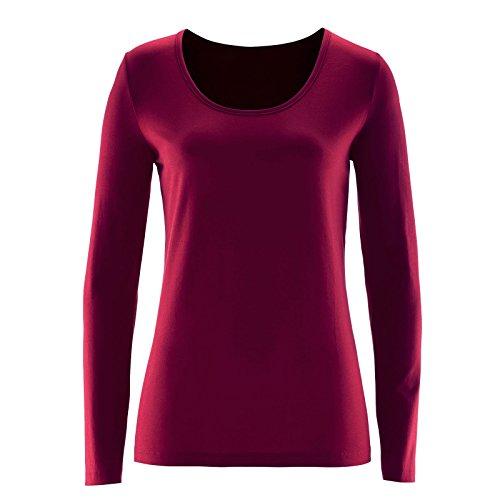 Toocool - Maglia donna scollo tondo manica lunga sottogiacca maglietta blusa nuova AS-29 Bordeaux