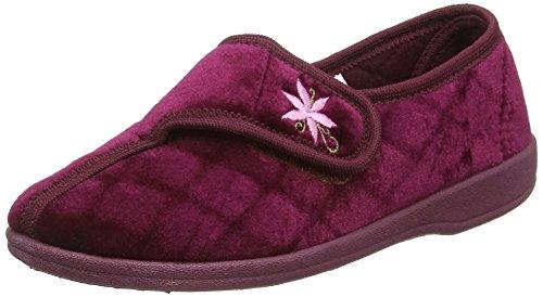 DunlopNora - Pantofole donna Rosso (Rosso (Wine))