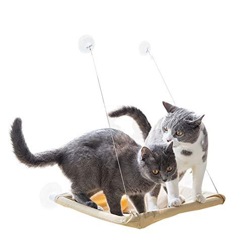 KNXYDR Cat Fenster Perch Cat Hammock Bett, Durable Heavy Duty Saugnäpfe Katzenbett Platz für bis zu 50 £, Haustier Ruhesitzmontage auf Fenster für Platzsparend -