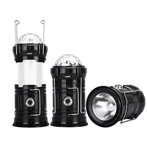 WG Flame LED Camping Light Color Atmosphere Stage Lights Rechargeable Multi-Function Stretching Equipment Hurricane, Power Outage, Storm, Hiking, Emergency, Outdoor