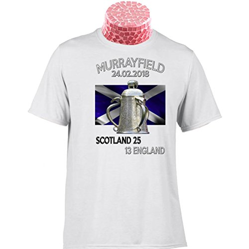 SCOTLAND RUGBY TEE SHIRT, Calcutta Cup Murrayfield 2018. Fantastic gift for fans of Scottish Rugby