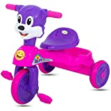GoodLuck Baybee - Children Plug And Play Mickey Baby Tricycle Kid's For 1-3 Years Baby Trike With Storage Bin Ride On Outdoor | Suitable For Babies,Boys & Girls -(Pink)